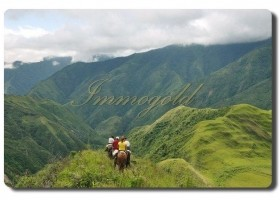 Immogold, Ecuador seit über zwei Jahrzehnten gut eingeführte Urlaubs-Pferderanch in Südamerika, Ecuador, nahe Quito